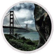 Round Beach Towel featuring the photograph Golden Gate Bridge - 4 by Mark Madere