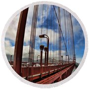 Round Beach Towel featuring the photograph Golden Gate Bridge - 7 by Mark Madere
