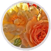Round Beach Towel featuring the photograph Golden Light by Debbie Portwood
