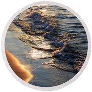 Golden Sand Round Beach Towel