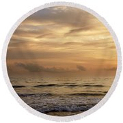 Golden Sea Round Beach Towel by Ivy Ho
