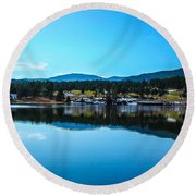 Round Beach Towel featuring the photograph Golf Course by Shannon Harrington