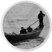 Round Beach Towel featuring the photograph Gondola  by Eric Tressler