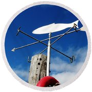 Round Beach Towel featuring the photograph Gone Fishing by Charlie and Norma Brock