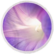 Good Morning Glory Round Beach Towel