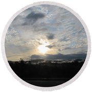 Round Beach Towel featuring the photograph Good Morning New York State by Maciek Froncisz