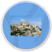 Round Beach Towel featuring the photograph Gordes In Provence by Carla Parris