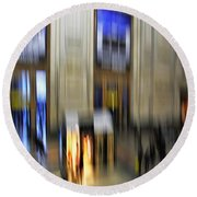 Round Beach Towel featuring the photograph Grand Central Station Italian Style by Andy Prendy