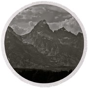 Round Beach Towel featuring the photograph Grand Tetons by Eric Tressler