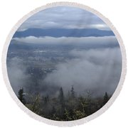 Grants Pass Weather Round Beach Towel by Mick Anderson