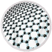 Round Beach Towel featuring the digital art Graphene 8 by Russell Kightley