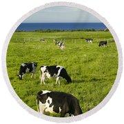Grazing Cows, Cavendish, Prince Edward Round Beach Towel