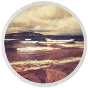 Round Beach Towel featuring the photograph Great Lakes by Phil Perkins