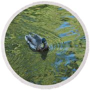 Round Beach Towel featuring the photograph Green Pool by Joseph Yarbrough