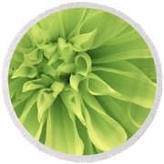 Round Beach Towel featuring the photograph Green Sherbet by Bruce Bley