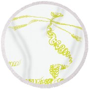 Ground Frond Round Beach Towel