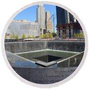 Ground Zero New York Round Beach Towel