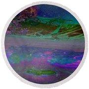 Round Beach Towel featuring the digital art Grow by Richard Laeton