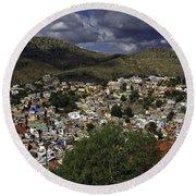 Round Beach Towel featuring the photograph Guanajuato Vista No. 1 by Lynn Palmer