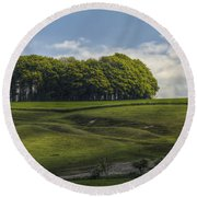 Hackpen Hill Round Beach Towel