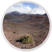 Haleakala Crater Floor II Round Beach Towel