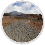 Haleakala Crater Trail Round Beach Towel