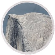 Half Dome From Glacier Point At Yosemite Np Round Beach Towel