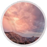 Half Dome From Olmsted Point Round Beach Towel