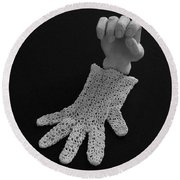 Hand And Glove Round Beach Towel by Barbara St Jean