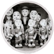 Hanoi Water Puppets Round Beach Towel