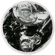 Harley Davidson Bike - Chrome Parts 02 Round Beach Towel