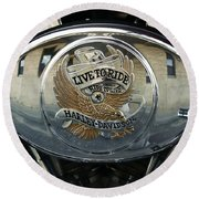 Harley Davidson Bike - Chrome Parts 44c Round Beach Towel