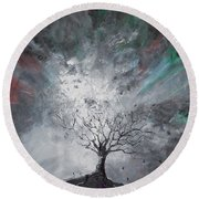 Haunted Tree Round Beach Towel