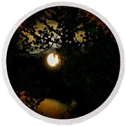 Round Beach Towel featuring the photograph Haunting Moon IIi by Jeanette C Landstrom