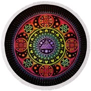 Meditation On Healing From Within Round Beach Towel