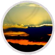 Heaven Is Watching Round Beach Towel by Jeanette C Landstrom