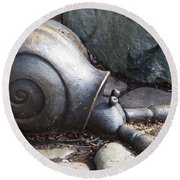 Round Beach Towel featuring the photograph Hermit Crab by Chalet Roome-Rigdon
