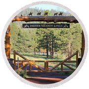 Hidden Meadow Ranch Round Beach Towel