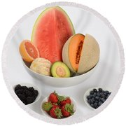 High Carbohydrate Fruit Round Beach Towel