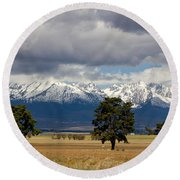 Round Beach Towel featuring the photograph High Tatras - Vysoke Tatry by Les Palenik