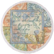 Hint Of Spring Butterfly 1 Round Beach Towel