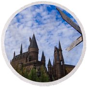 Hogwarts Castle Round Beach Towel by Julia Wilcox