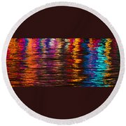 Holiday Reflections Round Beach Towel