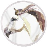 Horse - Julia Round Beach Towel