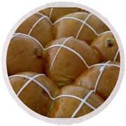 Hot Cross Buns Round Beach Towel