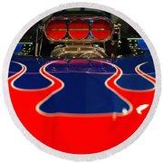 Hot Rod 4 Round Beach Towel