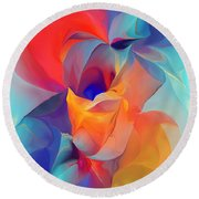 I Am So Glad Round Beach Towel by David Lane