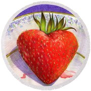 I Love You Berry Much Round Beach Towel