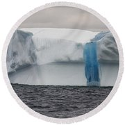 Round Beach Towel featuring the photograph Iceberg by Eunice Gibb