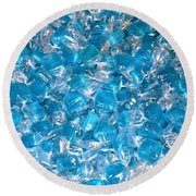 Ice Blues Round Beach Towel by Beth Saffer